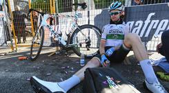 It's all over - Irish road race champion Conor Dunne completes the Giro d'Italia today