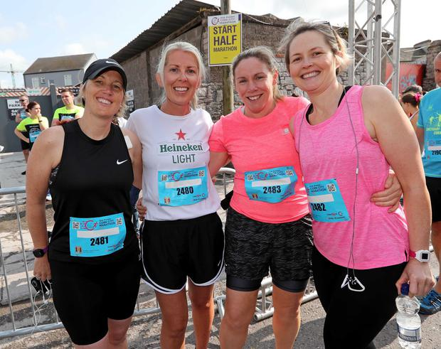 Runners: Elaine O'Driscoll, Aherla, with Linda Hawes,Trish Lyons and Oonagh Buckley, all Ballincollig. Photo: Jim Coughlan