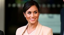 No show: Meghan will not meet the US president. Photo: PA