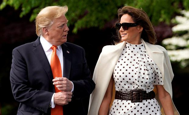 U.S. President Donald Trump and first lady Melania Trump. Photo: REUTERS/Kevin Lamarque