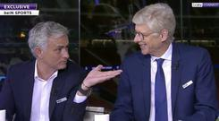 Mourinho and Wenger appeared on TV together