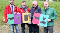 Launching this year's Young Farmer of The Year competition. Launching this year's Young Farmer of the Year competition were Thomas Duffy (Macra National President), Daniel Hawthorne (2018 Young Farmer of the Year), Richard Kennedy of the IFA and Donal Riordan of FBD.