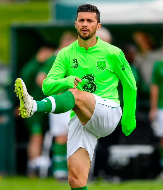 Shane Long was ruled out yesterday with injury. Photo: Harry Murphy/Sportsfile