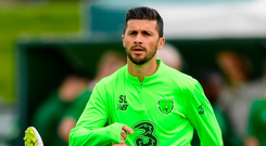 Shane Long has been left out of the Ireland squad by manager Mick McCarthy. Photo: Harry Murphy/Sportsfile