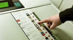'E-voting? It has my number one.' (stock photo)