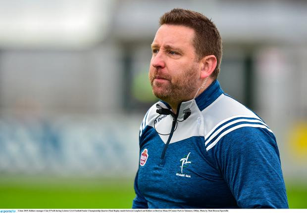 Kildare manager Cian O'Neill. Photo by Matt Browne/Sportsfile
