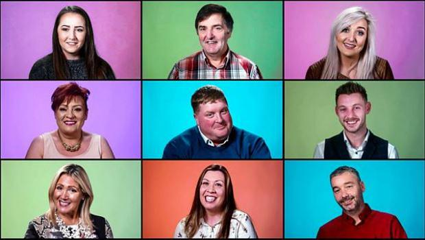 The cast of There's No Place Like Tyrone, BBC Northern Ireland
