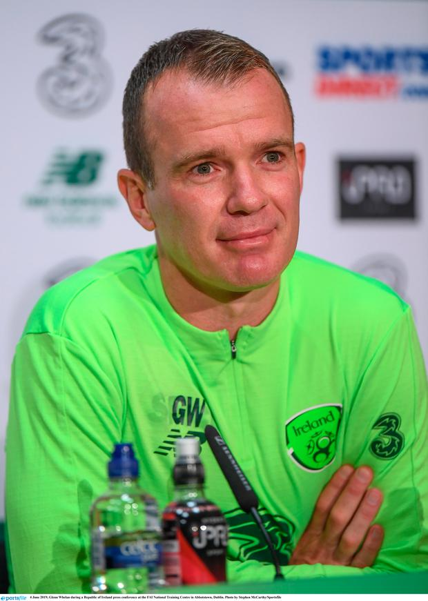 Glenn Whelan during a Republic of Ireland press conference at the FAI National Training Centre in Abbotstown, Dublin. Photo by Stephen McCarthy/Sportsfile