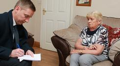 Grandmother Marie Bullman (79) speaks to reporter Pat O' Connell from her home in Cork Pic: Sunday World