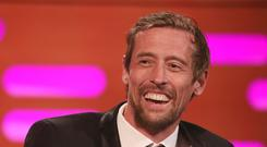 Peter Crouch has welcomed a son with wife Abbey Clancy (Isabel Infantes/PA)