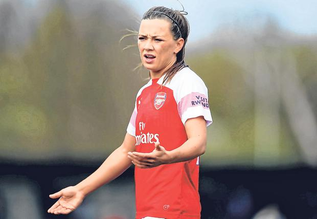 Katie McCabe is enjoying life at Arsenal, recently winning a league title and signing a long-term deal. Photo: Getty