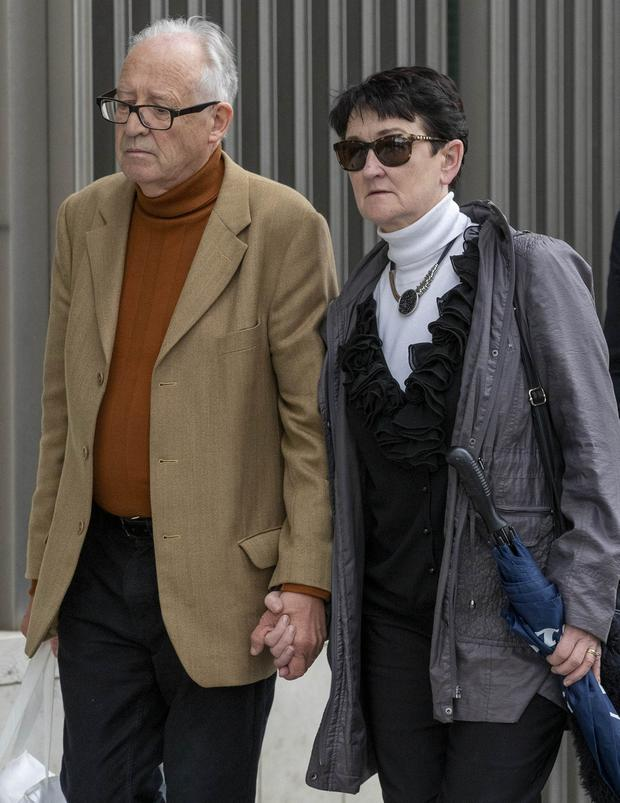 Ana's parents Patric and Geraldine Kriegel outside court. Picture: Collins