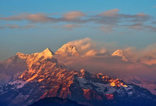 The Nanda Devi region of the Himalayas