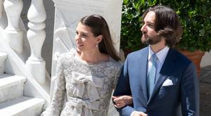 Charlotte Casiraghi weds film producer Dimitri Rassam in Monaco. Picture: Eric Mathon/ Palais Princier