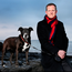 Alan Farrell TD with his dog Holly. Photo: Steve Humphreys