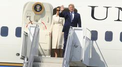 Donald Trump and wife Melania touch down at Shannon Airport (Photo: Gerry Mooney)
