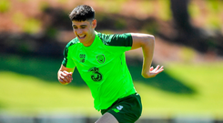 Callum O'Dowda is focusing on the next two games with Ireland, despite the speculation surrounding his future at Bristol City. Photo by Seb Daly/Sportsfile
