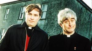 Island life: Ardal O'Hanlon as Father Dougal and Dermot Morgan as Father Ted