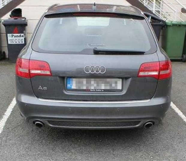 Spotlight: the Audi that was involved in the collision