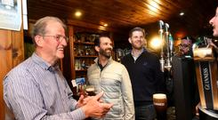 Donald Trump's sons Eric and Donald Trump Jr. visit a local pub in Doonbeg, Co Clare. Picture: REUTERS/Clodagh Kilcoyne