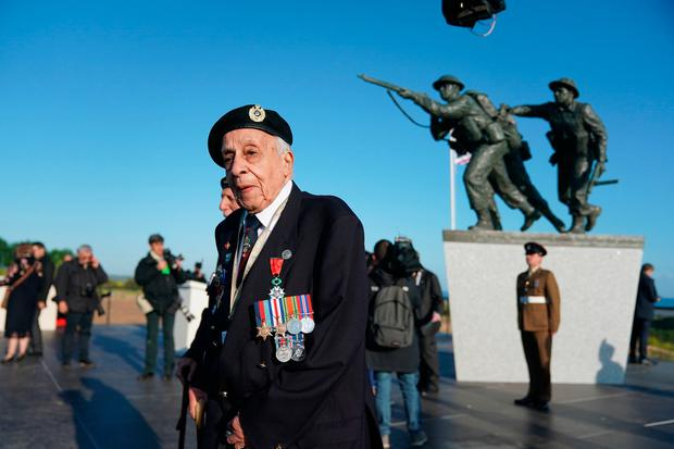 Patrick Moore from Kent, a veteran of the Royal Engineers, ahead of the Inauguration of the British Normandy Memorial site in Ver-sur-Mer, France, on the 75th anniversary of the D-Day landings. Photo: Owen Humphreys/PA Wire