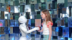 Pepper, the world's first social humanoid robot able to recognize faces and basic human emotions, will be at the O'Brien Centre for Science.