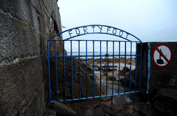 General view of old gate at Forty Foot Bathing place, Sandycove, Dublin. Picture: Caroline Quinn