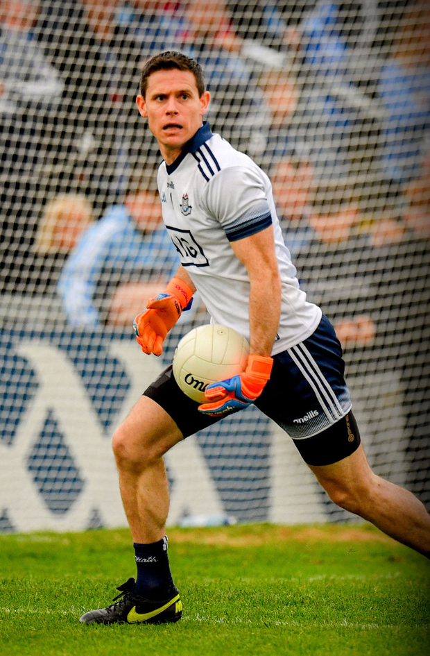 Stephen Cluxton, pictured here during the Leinster SFC quarterfinal match between Louth and Dublin last month, is still going strong after 19 seasons of football with the Sky Blues