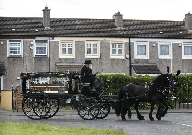 Jordan Davis's remains are taken to his funeral in the Church of Our Lady Immaculate in Darndale