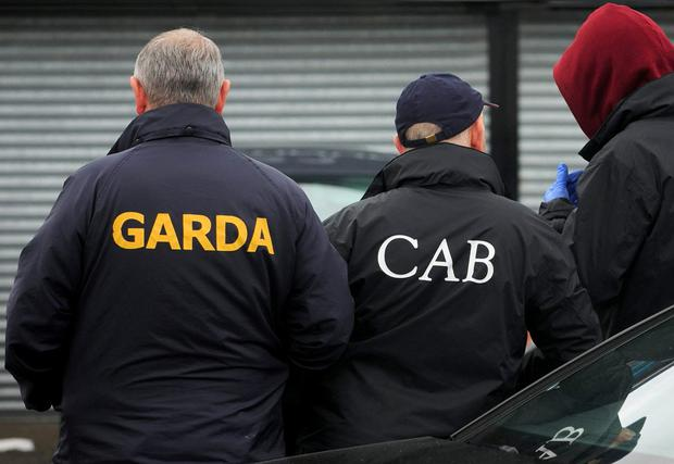 Gardai and CAB officers took part in yesterday's searches