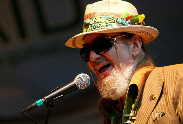Dr. John sings with The Voice of the Wetlands Allstars during the Gulf Aid benefit concert at Mardi Gras World in New Orleans, Louisiana, U.S. on May 16, 2010. REUTERS/Sean Gardner/File Photo