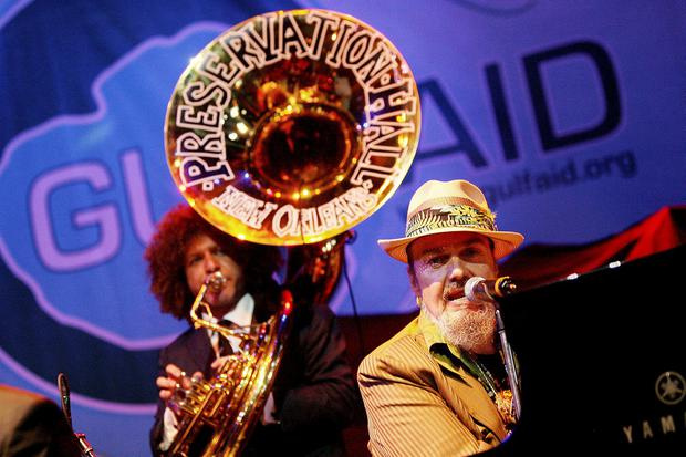 Dr. John performs with the Preservation hall Jazz Band during Gulf Aid benefit concert at Mardi Gras World in New Orleans, Louisiana on May 16, 2010. REUTERS/Sean Gardner/File Photo