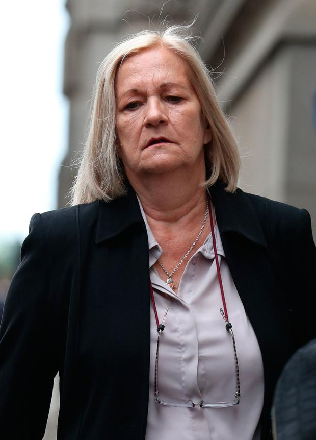 Sally Challen as she arrives at the Old Bailey Photo: Yui Mok/PA Wire