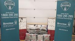 Around 25kgs worth of herbal cannabis was found by officers with an estimated street value worth around €500,000