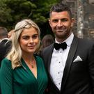 Jess Redden and Rob Kearney at Laura Smith and Cian Healy's wedding in Galway. Picture: Andy Newman