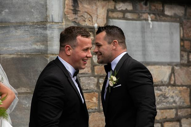 Bryan Byrne at Laura Smith and Cian Healy's wedding in Galway. Picture: Andy Newman