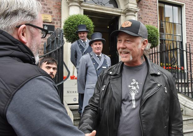 Metallica's James Hetfield in Dublin ahead of their concert at Slane Castle. Picture: VIP Ireland