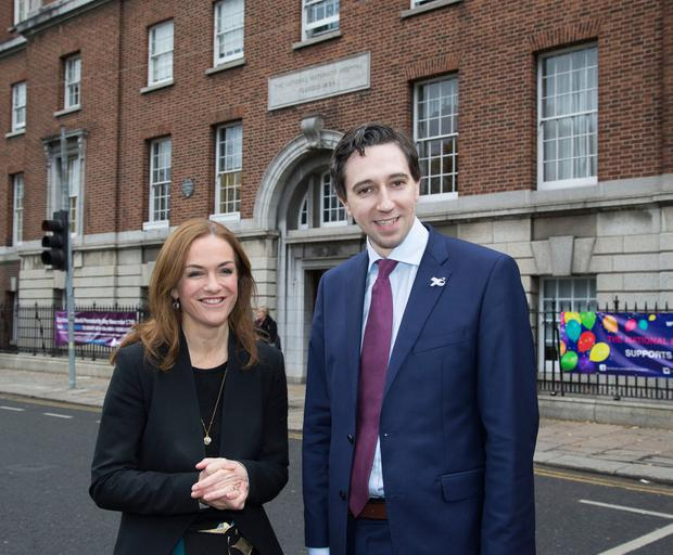 New role: Dr Rhona Mahony with Health Minister Simon Harris at the National Maternity Hospital, Holles Street, Dublin. Photo: COLIN O'RIORDAN