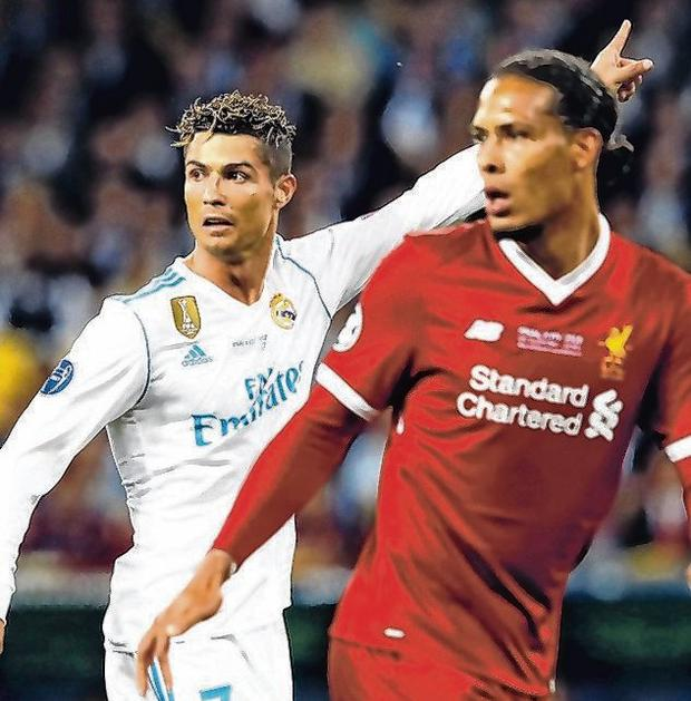 Cristiano Ronaldo and Virgil van Dijk during the 2018 Champions League final. Photo: VI Images via Getty Images