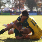 Craig Casey of Ireland on his way to scoring a try during the World Rugby U20 Championship Pool B match between Ireland and Australia at Club De Rugby Ateneo Inmaculada, Santa Fe, Argentina. Photo by Florencia Tan Jun/Sportsfile