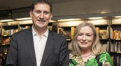 LIFE'S RICH TAPESTRY: 'Lay of the Land' author Fiona O'Connell with Eamon Ryan at the book launch. Photo Ger Holland