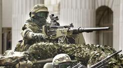 On standby: Army Rangers