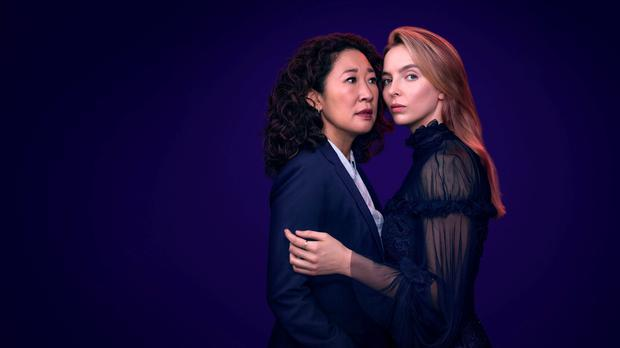 Sandra Oh and Jodie Comer in Killing Eve (Sid Gentle/Steve Schofield/BBC)