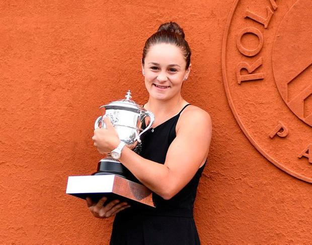 Dual star: Ashleigh Barty stepped away from tennis for two years to play professional cricket. Photo: Martin Bureau/AFP/Getty Images