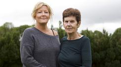 Helen Maguire and her daughter Christine Skipsey pictured at her home in Westmeath. Photo: Damien Eagers/INM