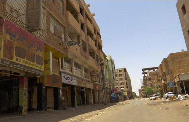 The streets of Sudan's capital Khartoum were largely empty as the working week began yesterday. Photo: AP