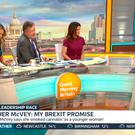 Video grab taken from ITV of Esther McVey (right) on Good Morning Britain. Lorraine Kelly appeared to 'snub' her former GMTV colleague and Tory leadership hopeful, MP Esther McVey. Photo: ITV/PA Wire
