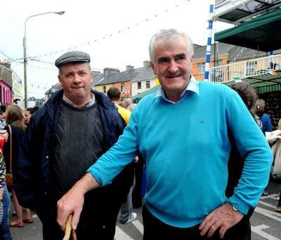 The Kerry Association in Dublin's Person of the Year, Danny Tim O'Sullivan, with Donal Martin Griffin (left).