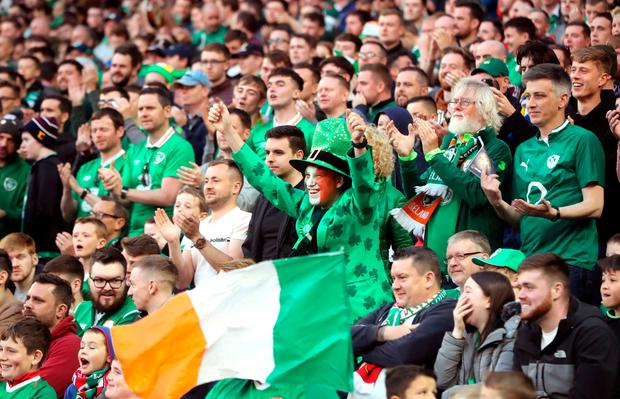 Republic of Ireland fans in the stand Niall Carson/PA Wire