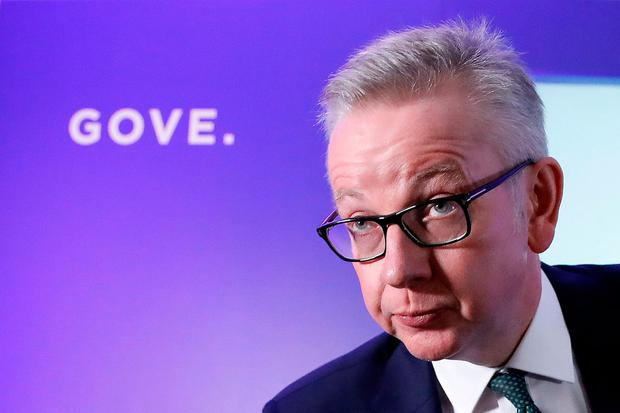 Mr Gove's leadership bid has been faltering since it emerged that he had taken cocaine several times in his 30s. Photo: AFP/Getty Images